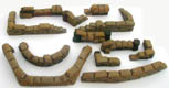 28mm WWII Sand Bag Set