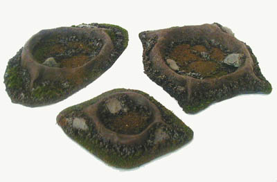 28MM WWII Battlefield Terrain Craters