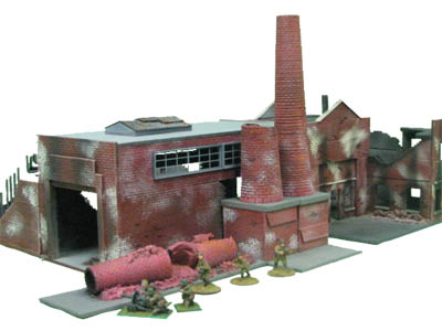 28mm WWII Factory Large Furnace
