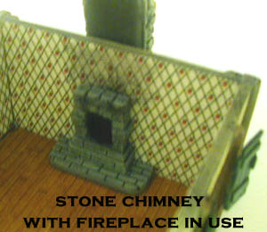 28mm WWII Building Stone Chimney