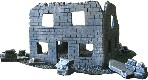 Ruined Stone Building WWII miniature wargaming terrain buildings