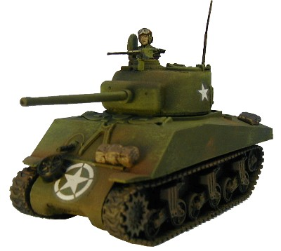 M4a3 Sherman 76mm WWII miniature wargaming vehicle